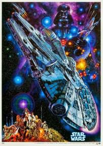 star wars classic faucon millenium affiche