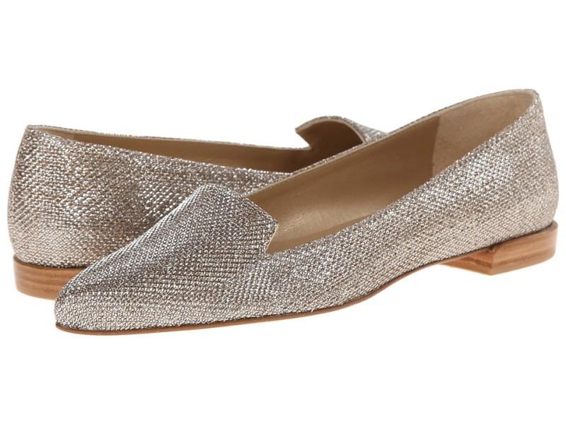 Stuart Weitzman - Rialto (Platinum Noir) Women's Flat Shoes