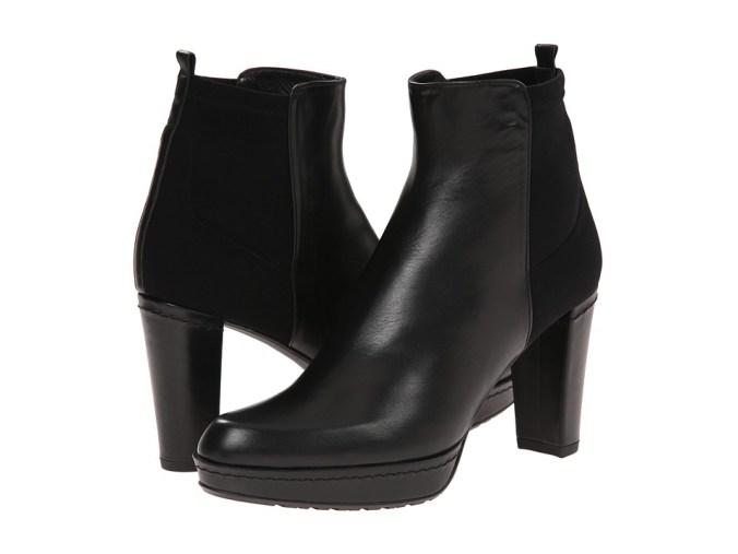 Stuart Weitzman - Otherhalf (Black Calf) Women's Dress Pull-on Boots