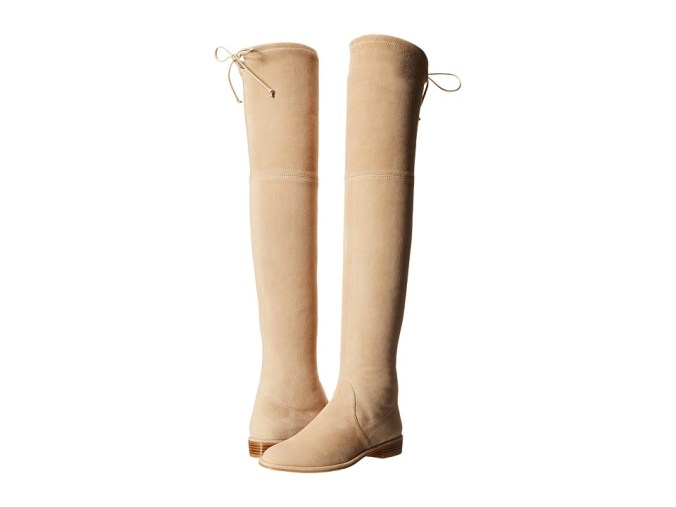 Stuart Weitzman - Lowland (Buff Suede) Women's Pull-on Boots