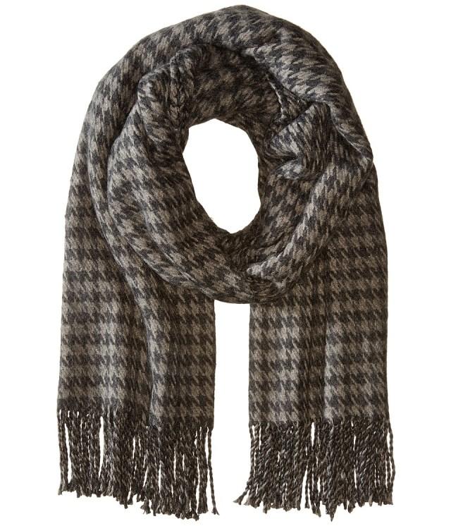 Hat Attack - Houndstooth Blanket Scarf (Grey) Scarves