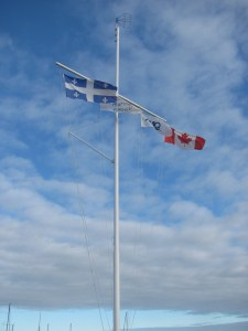 Rimouski and Quebec Flags