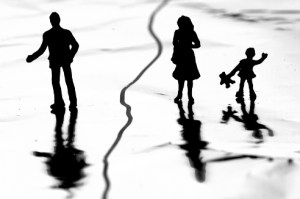 divorced family with child