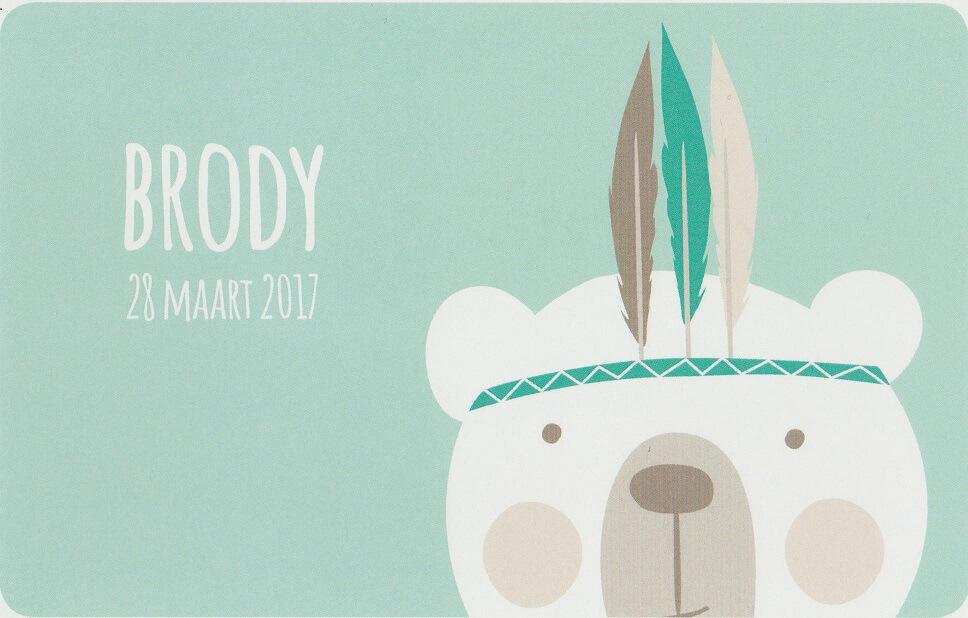 Geboortekaartje Brody