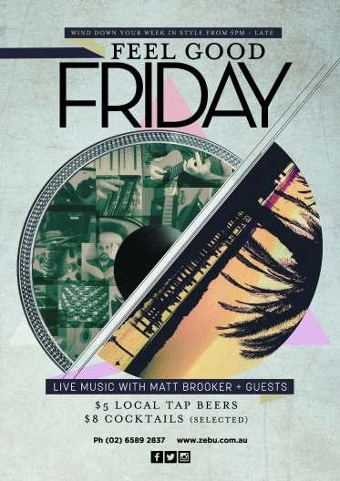 Port macquarie Friday Live Music Feel Good Fridays