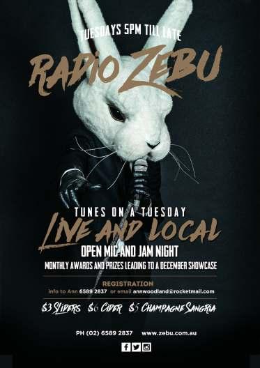 Radio Zebu open Mike Night with Prizes Port macquarie