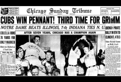 Read Chicago Tribune Front Page Story From Cubs 1945 Pennant Win #Cubs