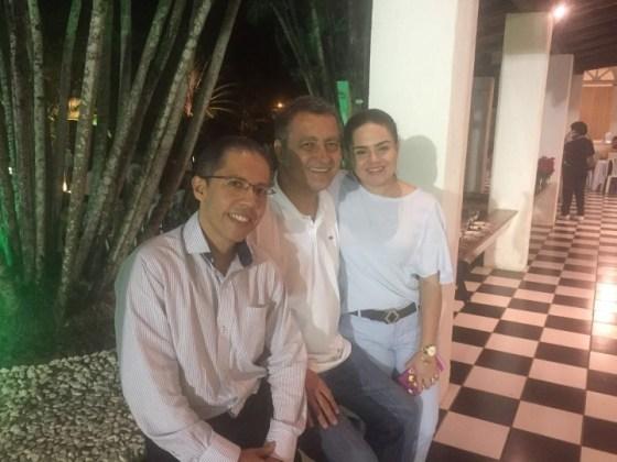 Paulo de Tarso, o governador Rui Costa e Aline Peixoto