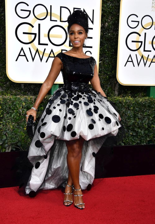 BEVERLY HILLS, CA - JANUARY 08:  Singer/actress Janelle Monae attends the 74th Annual Golden Globe Awards at The Beverly Hilton Hotel on January 8, 2017 in Beverly Hills, California.  (Photo by Steve Granitz/WireImage)