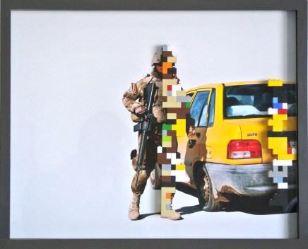 ireqfreedom, stampa digitale e lego, 30x40 cm