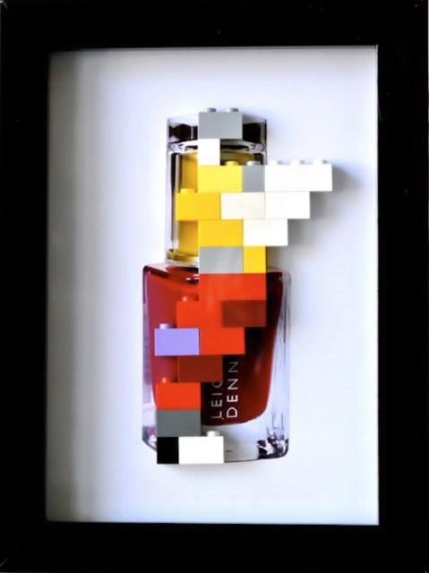 RED , stampa digitale e lego 18x13 cm