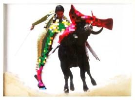 Spanish ballet, 50x70 cm, stampa digitale, lego e sabbia