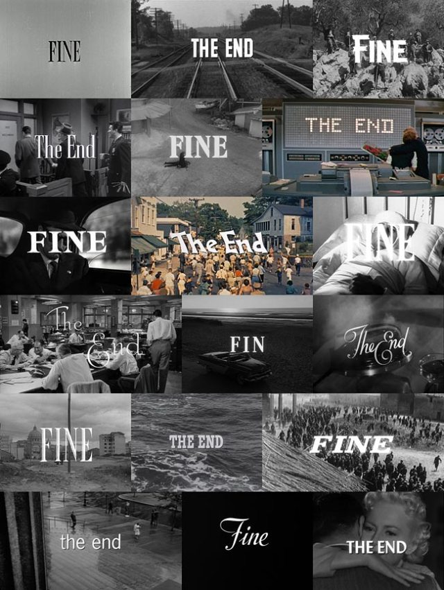 Film end titles from the 1950s