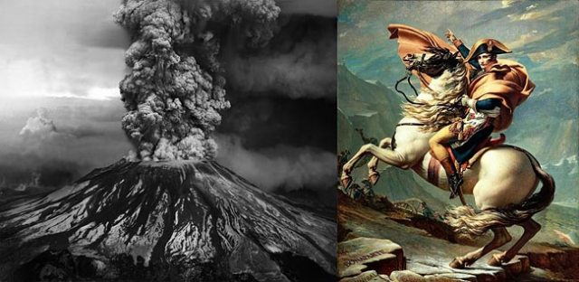 Mt. St. Helens eruption - Napoleon Bonaparte by David
