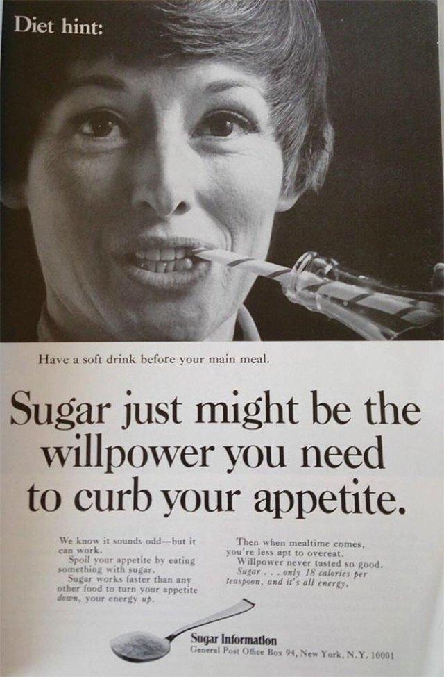 vintage sugar ad diet hint