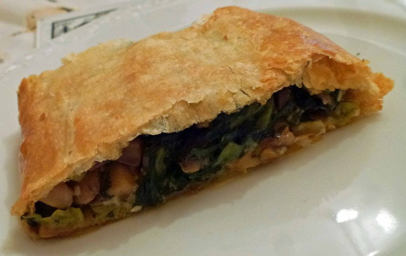 spinach strudel served