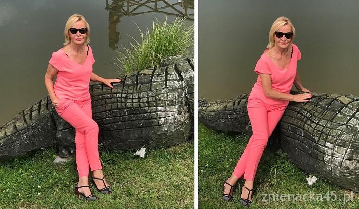 Różowy Komplet na Krokodylu