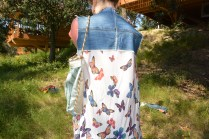 Butterfly gilet (back) ... Upcycled bag by Laura from Las Makers
