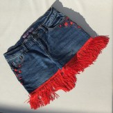 SOLD - Red shorts (front detail) - still available