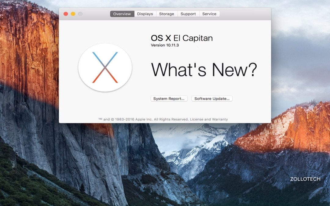 OS X El Capitan 10.11.3 – What's New?