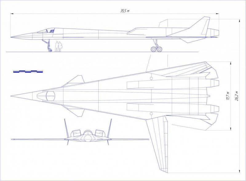 Una representación del probable aspecto del futuro MiG-41