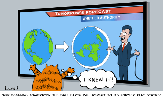 Flat Earth Forecast