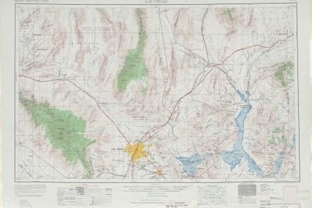 las vegas topographic map sheet, united states 1969 full