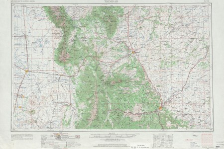 trinidad topographic map sheet, united states 1962 full size