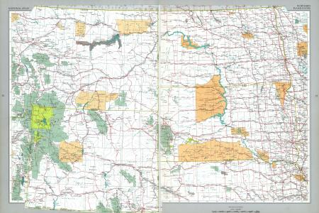 northern plains states map, united states full size