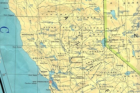 northern california state map, united states full size