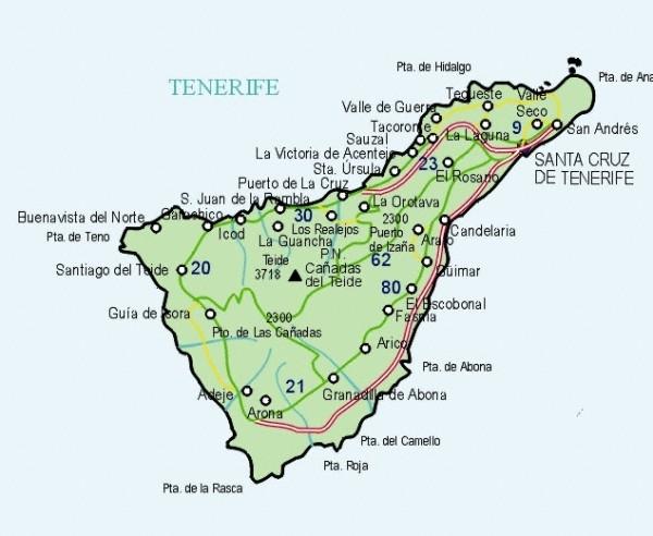 map tenerife island