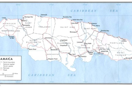 jamaica political map 2