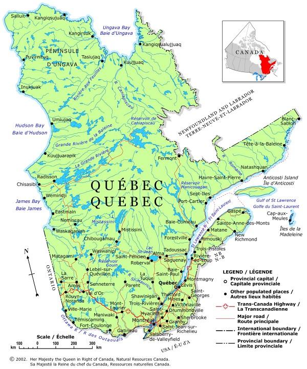 map qubec