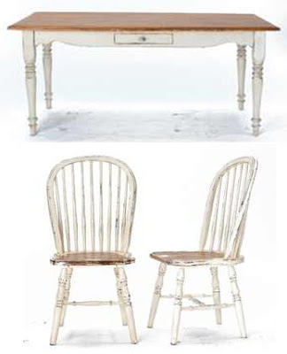 shabby-chic-stół-krzesło