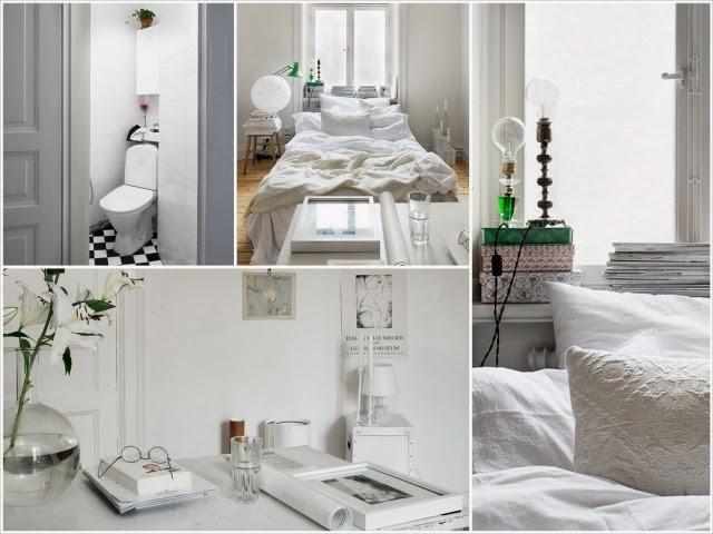 Piękne białe wnętrze