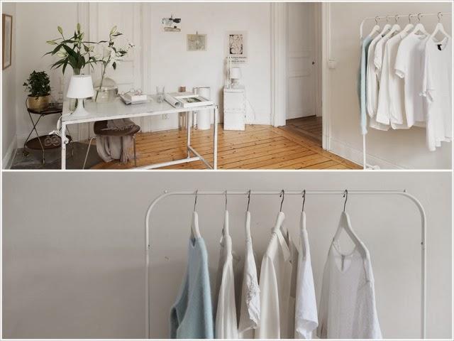 Typowe białe skandynawskie mieszkanie