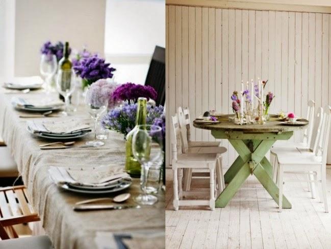 dekorowanie stołu kwiatami