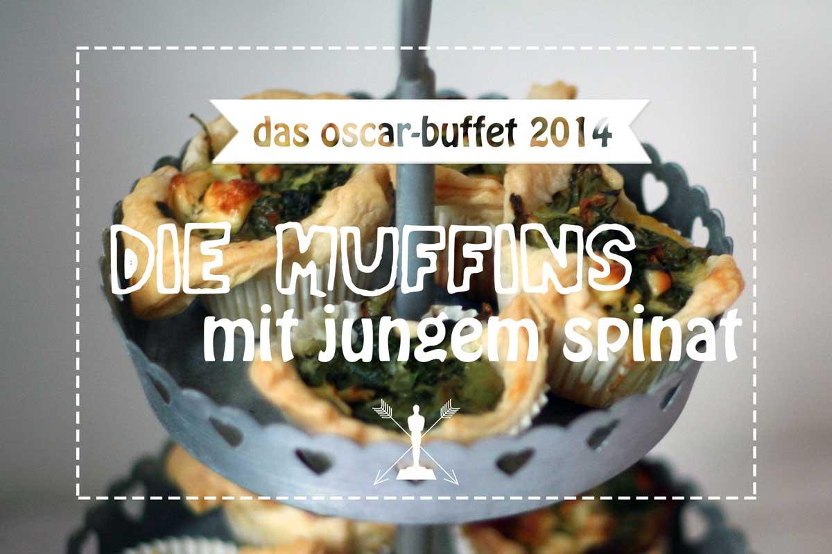 blätterteig-muffins mit jungem spinat {oscar buffet 2014}