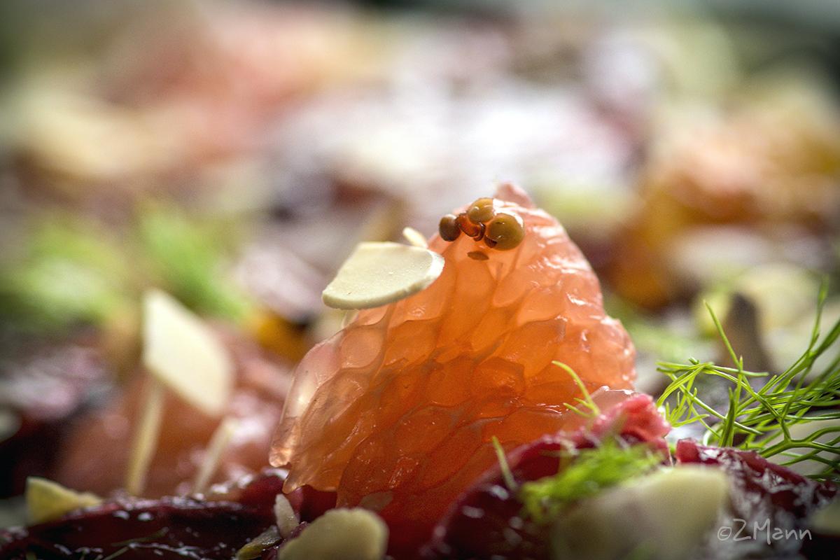 z widokiem na stół   sałatka cytrusowa