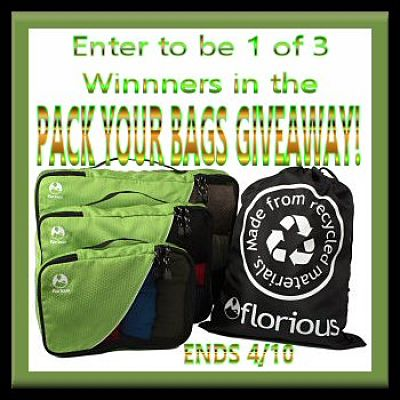 Enter for a chance to #WIN the #Florious Pack Your Bags #Giveaway by 4/10