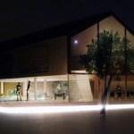 Triangular House at night