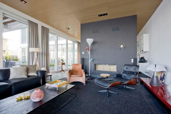 Steel Study House Interior