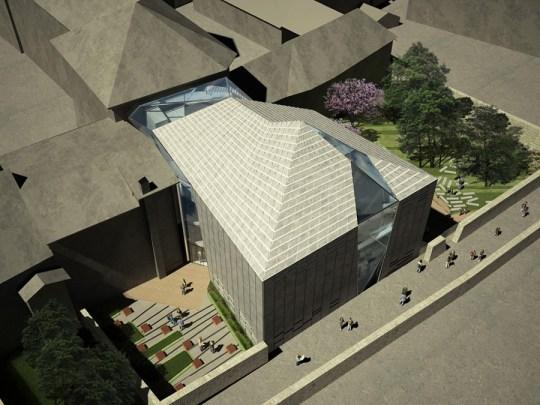aquilialberg brixen public library (aerial view back)
