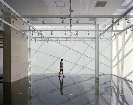 Fragmented Glass Façade, Interior View