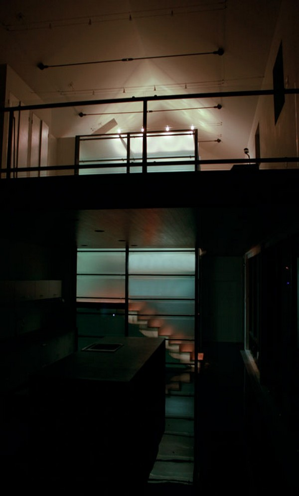 Springfield House Stair Core at Night