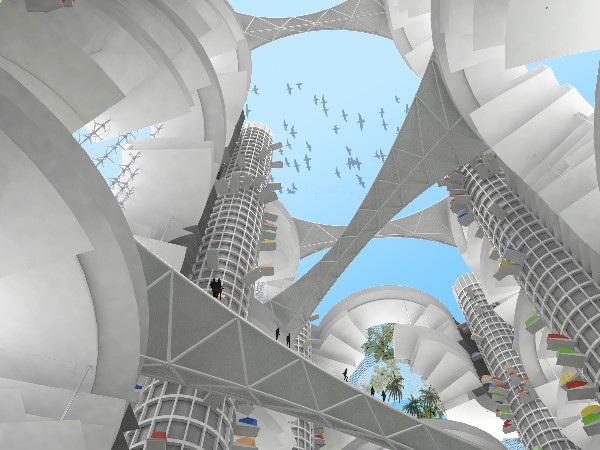 Tata Tower  Render Looking Up