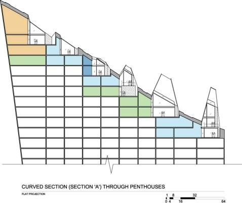 SECTION-curved Model (c) Studio Daniel Libeskind