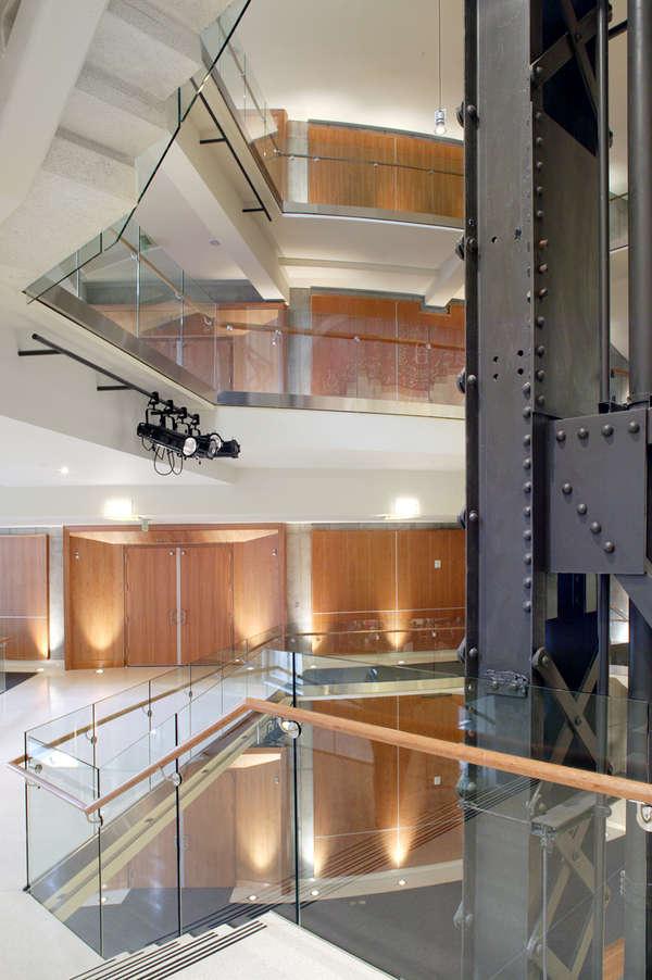 2nd level - original steel beam
