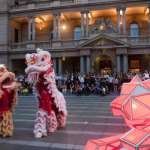 Giant Digital Origami Tigers Launch Chinese New Year