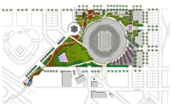 Stadium site plan